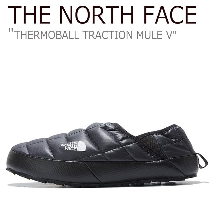 ノースフェイス スニーカー THE NORTH FACE レディース THERMOBALL TRACTION MULE V サーモボール トラクション ミュール V BLACK ブラック NS93K80C シューズ 【中古】未使用品