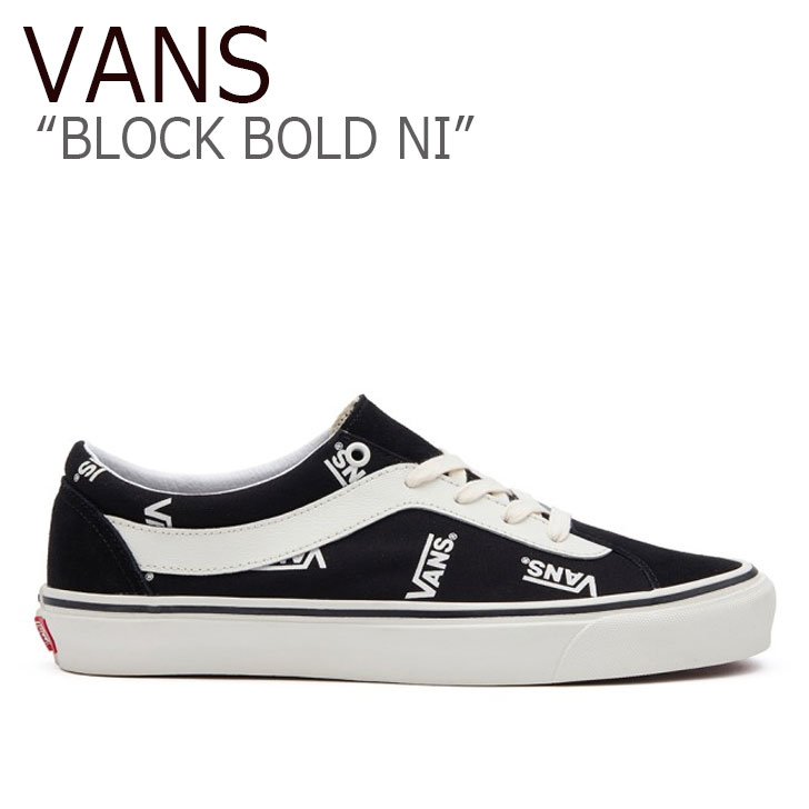 バンズ スニーカー VANS メンズ レディース BLOCK BOLD NI ブロック ボールド ニー BLACK ブラック MARSHMALLOW マシュマロ VN0A3WLPWQW1 シューズ