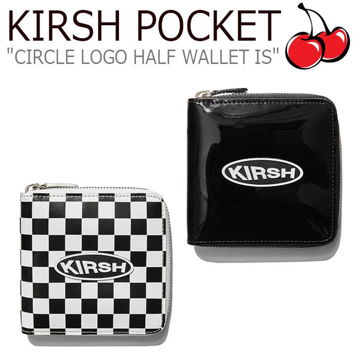 キルシーポケット 財布 KIRSH POCKET メンズ レディース CIRCLE LOGO HALF WALLET IS サークル ロゴ ハーフ ウォレット BLACK ブラック WHITE ホワイト ISKA15 CNWA9EL04BK/WT ACC