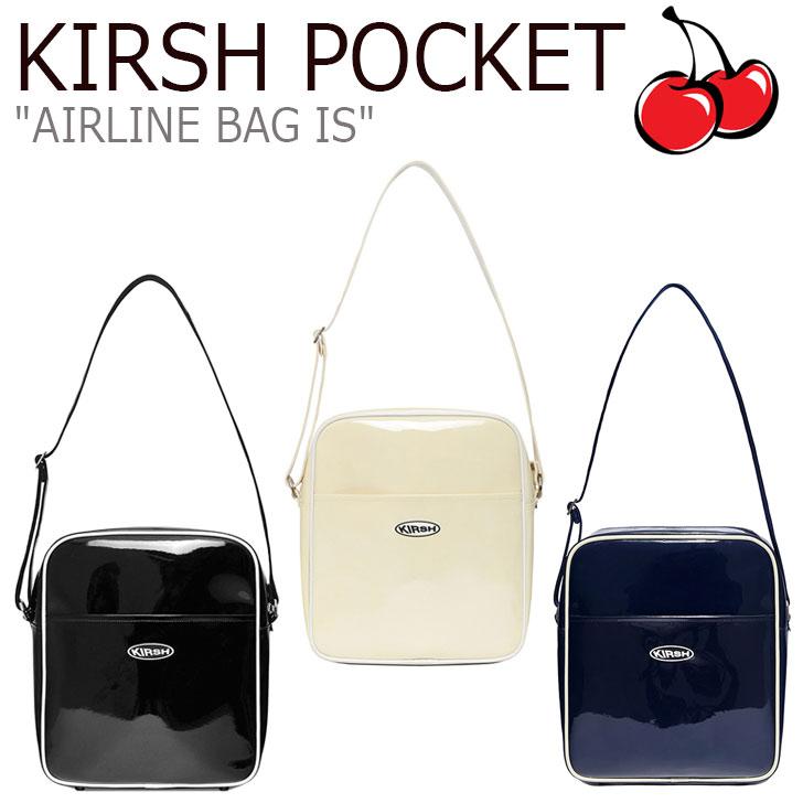 キルシーポケット クロスバッグ KIRSH POCKET メンズ レディース AIRLINE BAG IS エアラインバッグ IVORY アイボリー BLACK ブラック NAVY ネイビー CNBA9EL09IV/BK/N2 バッグ