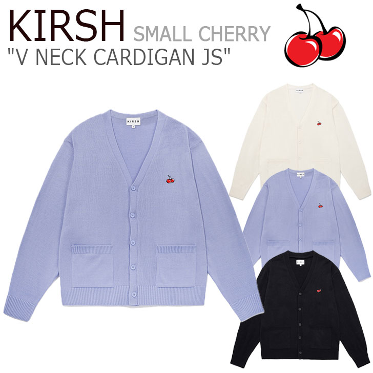 キルシー アウター KIRSH レディース SMALL CHERRY V NECK CARDIGAN JS スモール チェリー Vネック カーディガン 全3色 JSKK01 CNSW0EL05BK/B1/CR ウェア