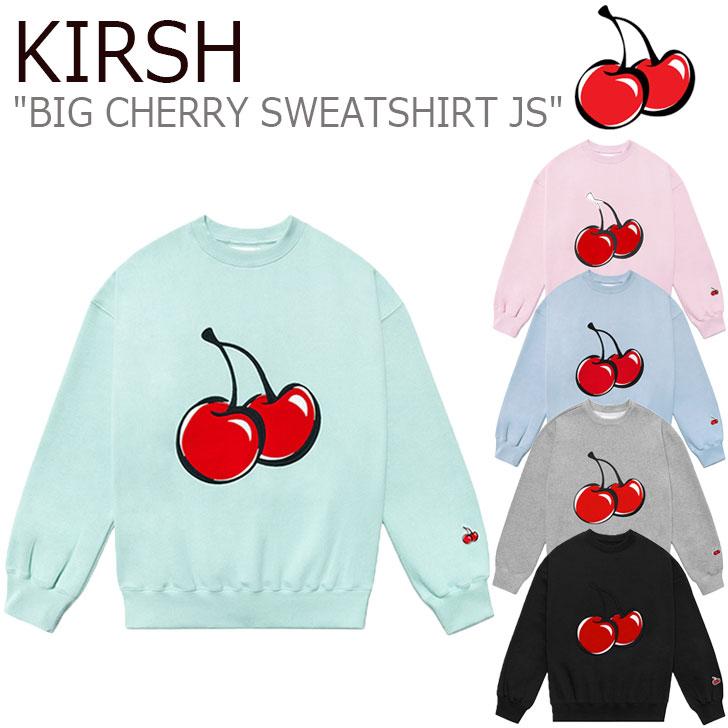 キルシー トレーナー KIRSH メンズ レディース BIG CHERRY SWEATSHIRT JS ビック チェリー スウェットシャツ 全5色 JSKT01/28 CNTS0EL26BK/G2/P1/E1 FLKRAA1C01/02/03/04 ウェア
