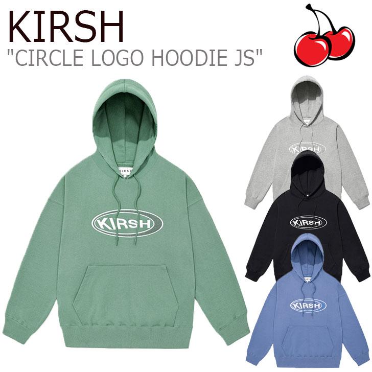 キルシー パーカ KIRSH メンズ レディース CIRCLE LOGO HOODIE JS サークル ロゴ フーディー BLUE ブルー GREEN グリーン GRAY グレー BLACK ブラック JSKT12 ウェア