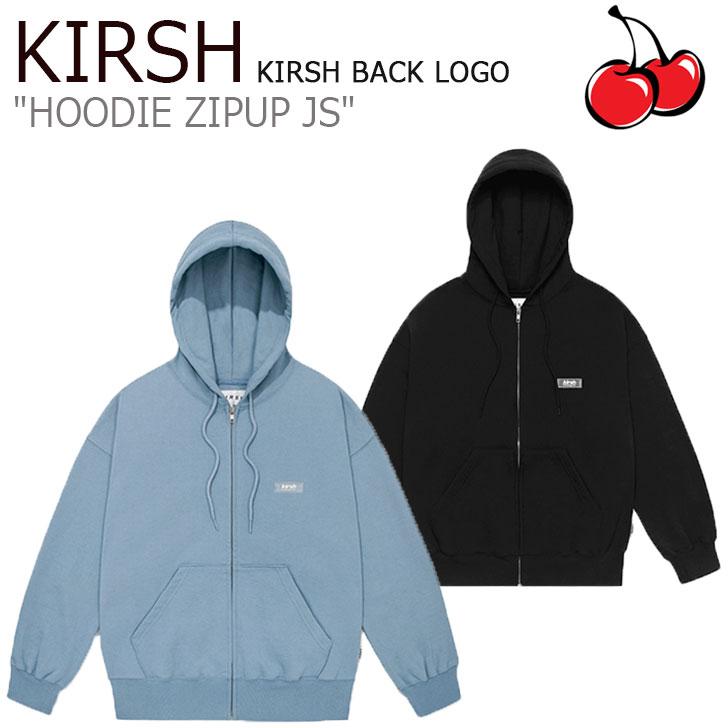 キルシー パーカ KIRSH メンズ レディース KIRSH BACK LOGO HOODIE ZIPUP JS キルシーバックロゴ フーディー ジップアップ BLACK ブラック BLUE ブルー JSKT24 CNTS0EL40BK/B1 ウェア