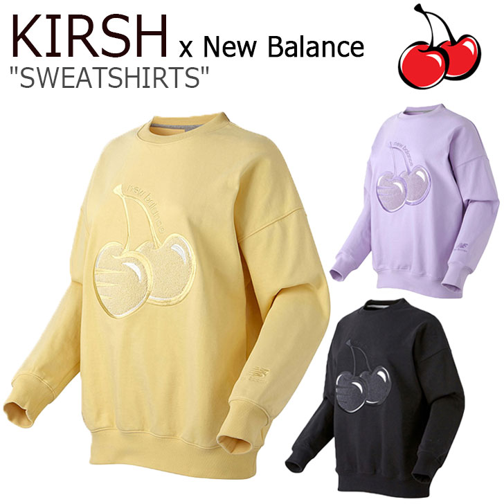 キルシー トレーナー KIRSH メンズ レディース NB X KIRSH SWEATSHIRTS ニューバランス X キルシー スウェットシャツ BLACK ブラック YELLOW イエロー PURPLE パープル NBNCA2N012 ウェア 【中古】未使用品