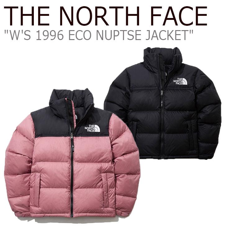 ノースフェイス ダウン THE NORTH FACE レディース W'S 1996 ECO NUPTSE JACKET 1996 エコ レトロ ヌプシ ジャケット DUSTY ROSE BLACK ダスティーローズ ブラック NJ1DL80A/B ウェア 【中古】未使用品