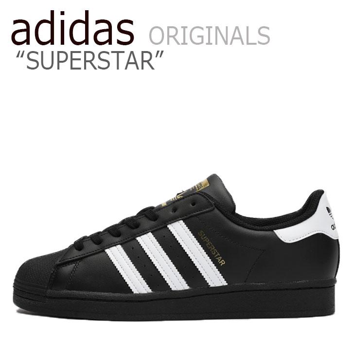 アディダス スーパースター スニーカー adidas メンズ レディース SUPERSTAR スーパースター BLACK ブラック WHITE ホワイト EG4959 シューズ 【中古】未使用品