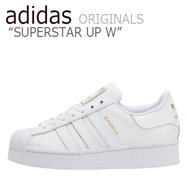 アディダス スーパースター スニーカー adidas レディース SUPERSTAR UP W スーパースター アップ WHITE ホワイト FV3334 シューズ 【中古】未使用品