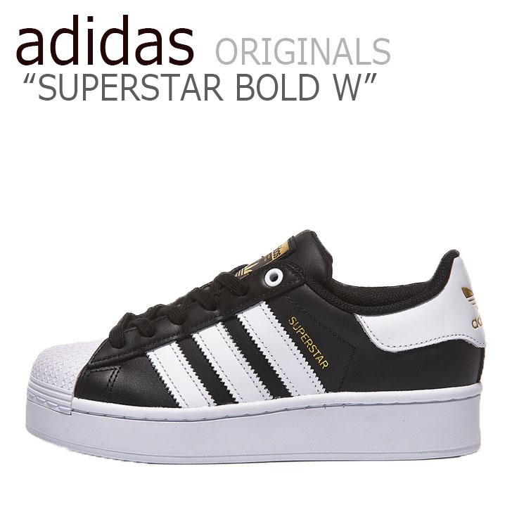 アディダス スーパースター スニーカー adidas レディース SUPERSTAR BOLD W スーパースター ボールド BLACK ブラック WHITE ホワイト FV3335 シューズ 【中古】未使用品