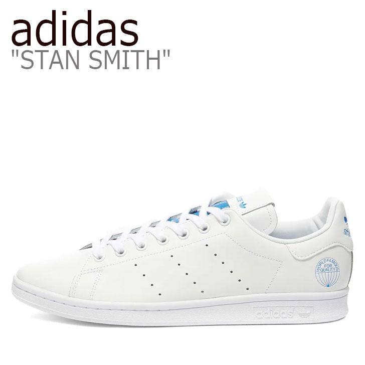 アディダス スタンスミス スニーカー adidas メンズ レディース STAN SMITH スタン スミス WHITE ホワイト BLUE ブルー FV4083 シューズ 【中古】未使用品