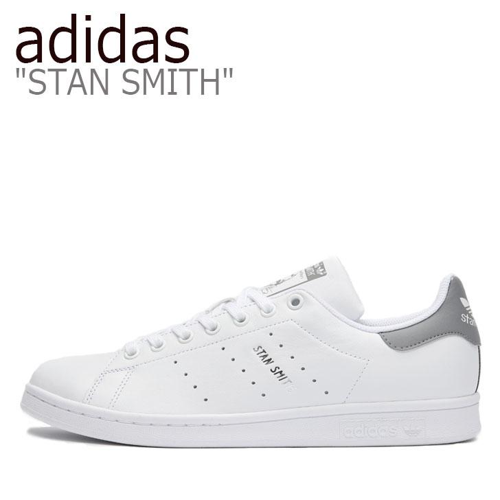 アディダス スタンスミス スニーカー adidas メンズ STAN SMITH スタン スミス WHITE ホワイト GRAY グレー FV7874 シューズ 【中古】未使用品