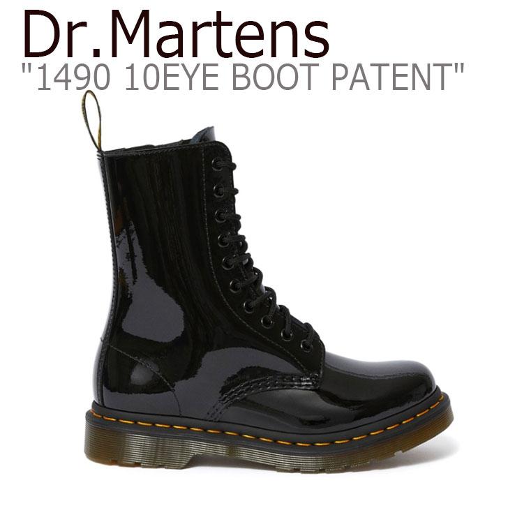 ドクターマーチン スニーカー Dr.Martens メンズ レディース 1490 10EYE BOOT PATENT 25277001 1490 10ホール ブーツ パテント BLACK ブラック 25277001 シューズ 【中古】未使用品