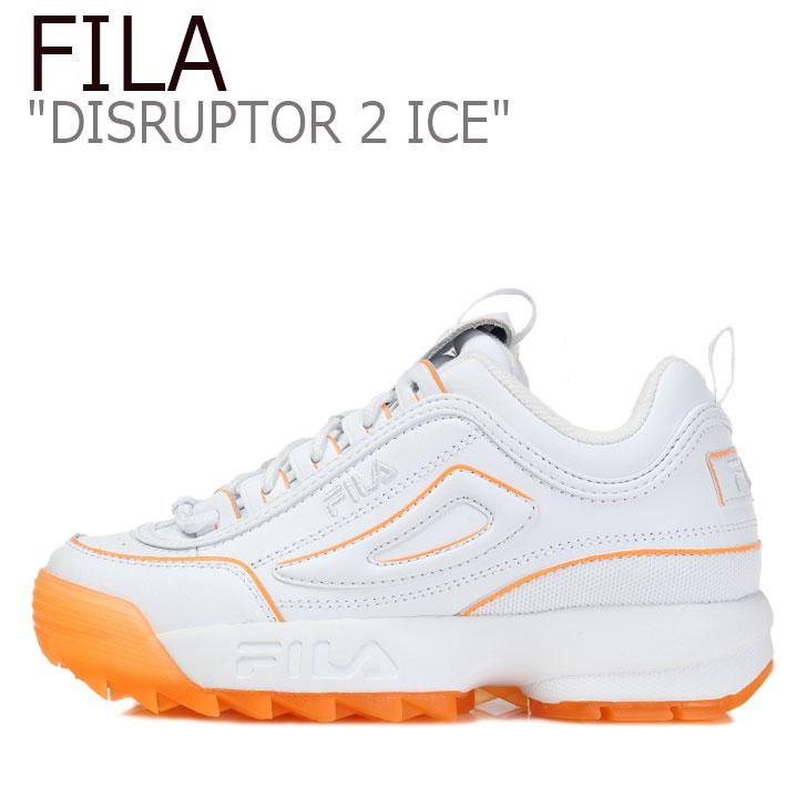 フィラ ディスラプター スニーカー FILA レディース DISRUPTOR 2 ICE ディスラプター2 アイス ORANGE オレンジ WHITE ホワイト FS1HTB3474F シューズ