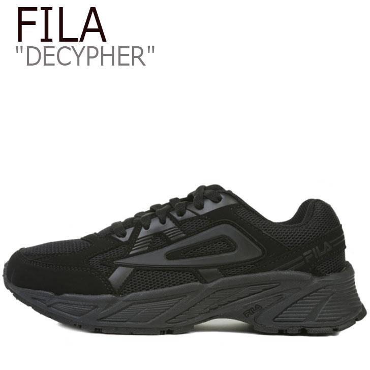 フィラ スニーカー FILA メンズ レディース DECYPHER ディサイファー BLACK ブラック 1GM00828_001 シューズ