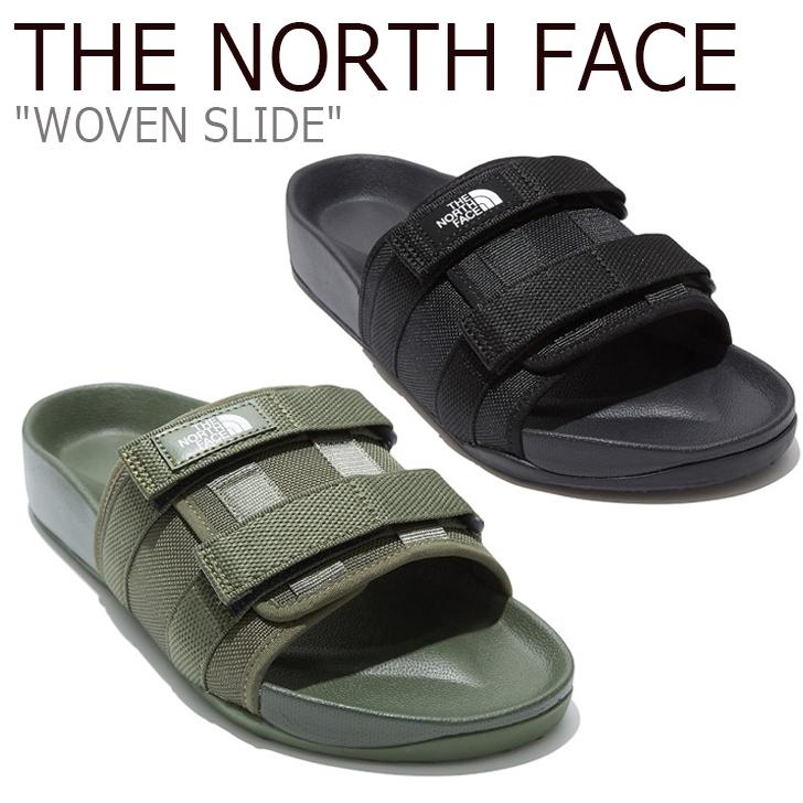 ノースフェイス サンダル THE NORTH FACE メンズ レディース WOVEN SLIDE ウーブン スライド BLACK ブラック KHAKI カーキ NS98L16A/C シューズ