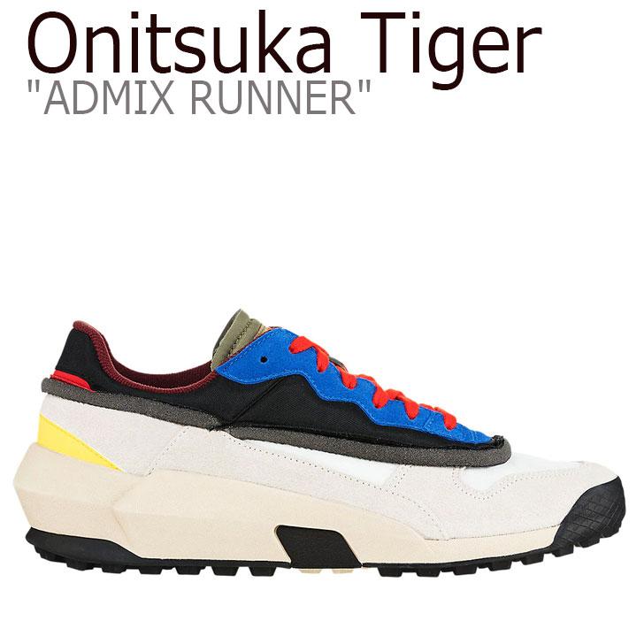 オニツカタイガー スニーカー Onitsuka Tiger メンズ レディース ADMIX RUNNER アドミックス ランナー CREAM クリーム BLACK ブラック 1183A262-100 シューズ