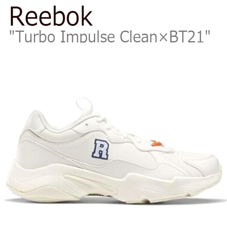 リーボック スニーカー REEBOK メンズ レディース TURBO IMPULSE CLEAN ターボ インパルス クリーン X BT21 RJ アールジェイ WHITE ホワイト ORANGE オレンジ FW5216 シューズ