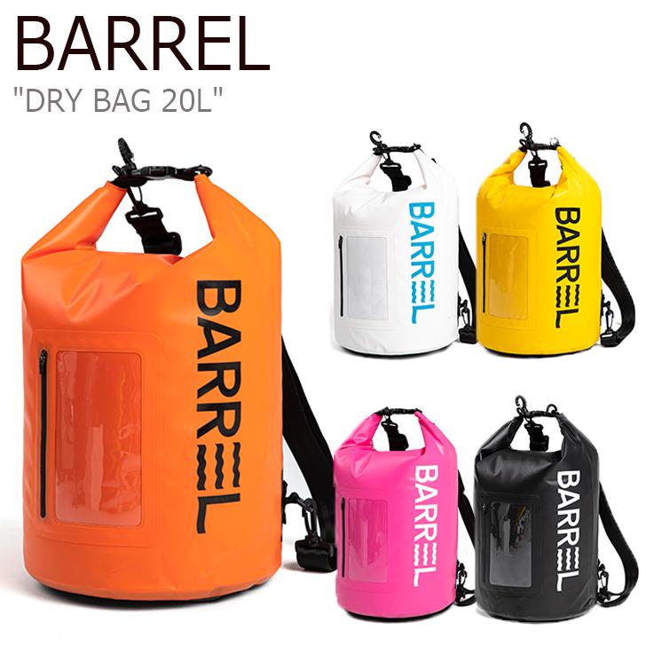 バレル PVCバッグ BARREL メンズ レディース DRY BAG 20L ドライバッグ 20リットル ビーチバッグ 全5色 BG9UWDB04WHT/YLW/ORG/PNK/BLK 1460715/6/7/8/9 バッグ