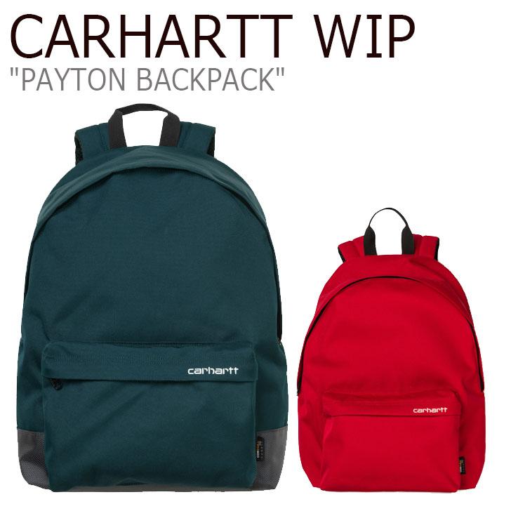 カーハート ワークインプログレス リュック CARHARTT WIP メンズ レディース PAYTON BACKPACK ペイトン バックパック BLUE ブルー WHITE ホワイト CARDINAL カーディナル WHITE ホワイト CA19FWBABP05951001/381001 バッグ