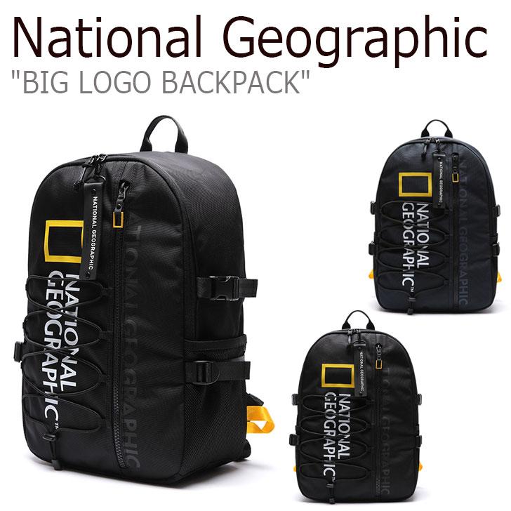 ナショナルジオグラフィック リュック NATIONAL GEOGRAPHIC メンズ レディース BIG LOGO BACKPACK ビッグ ロゴ バックパック NAVY ネイビー BLACK ブラック N205ABG920/020 1140541/2 バッグ