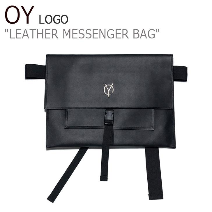 オーワイ ボディーバッグ OY メンズ レディース LOGO LEATHER MESSENGER BAG ロゴ レザー メッセンジャーバッグ BLACK ブラック F255XX00412 バッグ