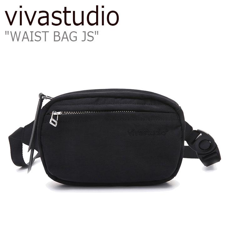ビバスタジオ ウエストポーチ vivastudio メンズ レディース WAIST BAG JS ウエストバッグ BLACK ブラック JSVA06 バッグ