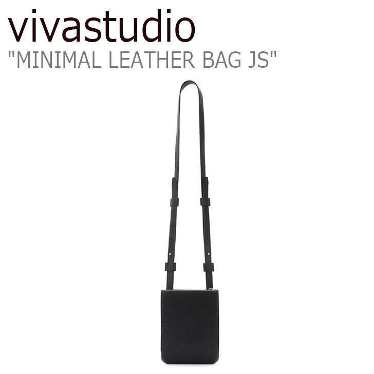 ビバスタジオ クロスバッグ vivastudio メンズ レディース MINIMAL LEATHER BAG JS ミニマル レザーバッグ BLACK ブラック JSVA07 バッグ