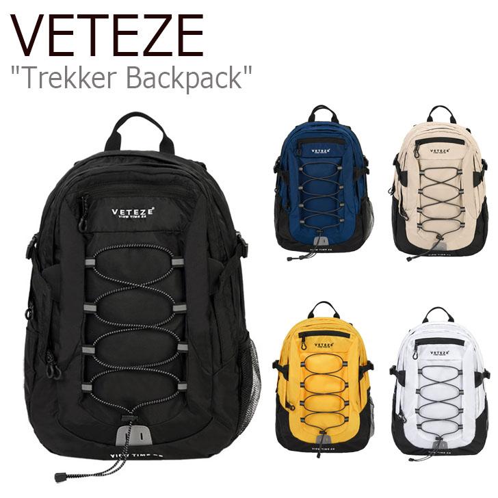 ベテゼ リュックサック VETEZE メンズ レディース Trekker Backpack トレッカー バックパック BLACK NAVY BEIGE YELLOW WHITE ブラック ネイビー ベージュ イエロー ホワイト 19VTZBAC005/6/7/8/9 バッグ