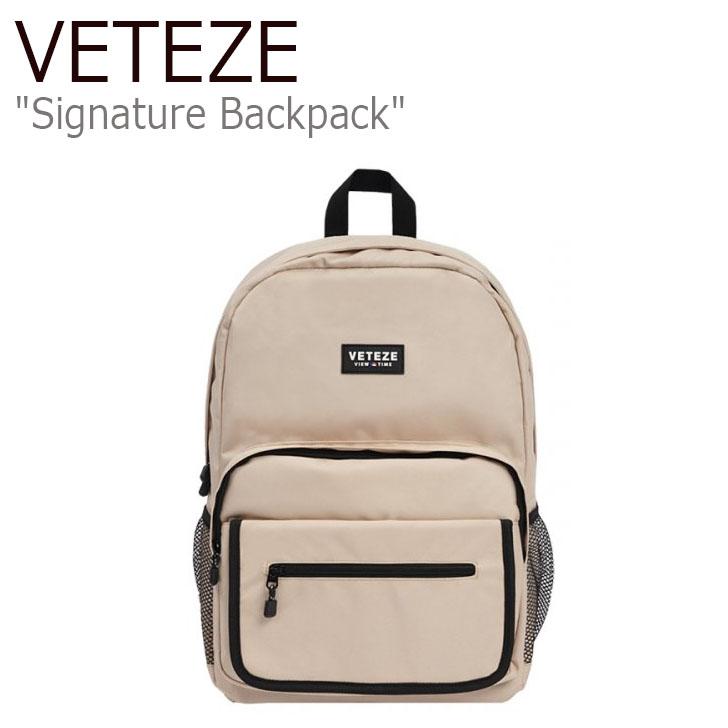 ベテゼ リュックサック VETEZE メンズ レディース Signature Backpack シグネチャー バックパック BEIGE ベージュ 19VTZFWBA004 バッグ