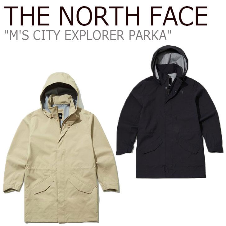 ノースフェイス ジャケット THE NORTH FACE メンズ M'S CITY EXPLORER PARKA シティー エクスプローラー パーカ BEIGE ベージュ BLACK ブラック NJ2HL07A/B ウェア 【中古】未使用品