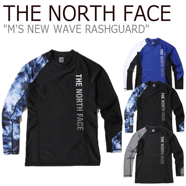 ノースフェイス 水着 THE NORTH FACE メンズ M'S NEW WAVE RASHGUARD ニュー ウエーブ ラッシュガード BLUE ブルー BLACK ブラック GREY グレー NT7TK03J/K/L ウェア 【中古】未使用品