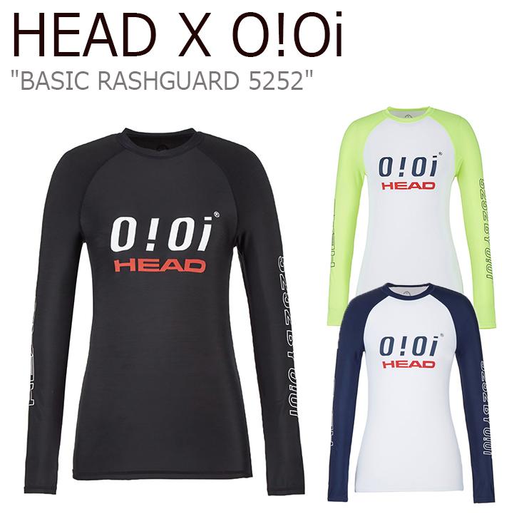 オアイオアイ 水着 HEAD X 5252 by O!Oi レディース LOGO BASIC RASHGUARD ヘッド ロゴ ベーシック ラッシュガード BLACK NAVY YELLOW ブラック ネイビー イエロー JOQJH19201BKX/YEN/WHX ウェア