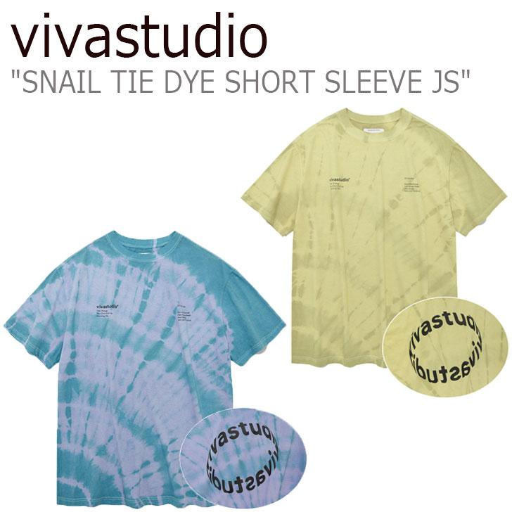 ビバスタジオ Tシャツ vivastudio メンズ レディース SNAIL TIE DYE SHORT SLEEVE JS スネイル タイダイ ショート スリーブ BEIGE ベージュ BLUE ブルー JSVT09 ウェア