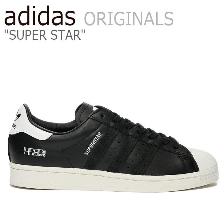 アディダス スーパースター スニーカー adidas メンズ レディース SUPERSTAR スーパースター BLACK ブラック FV2809 シューズ【中古】未使用品