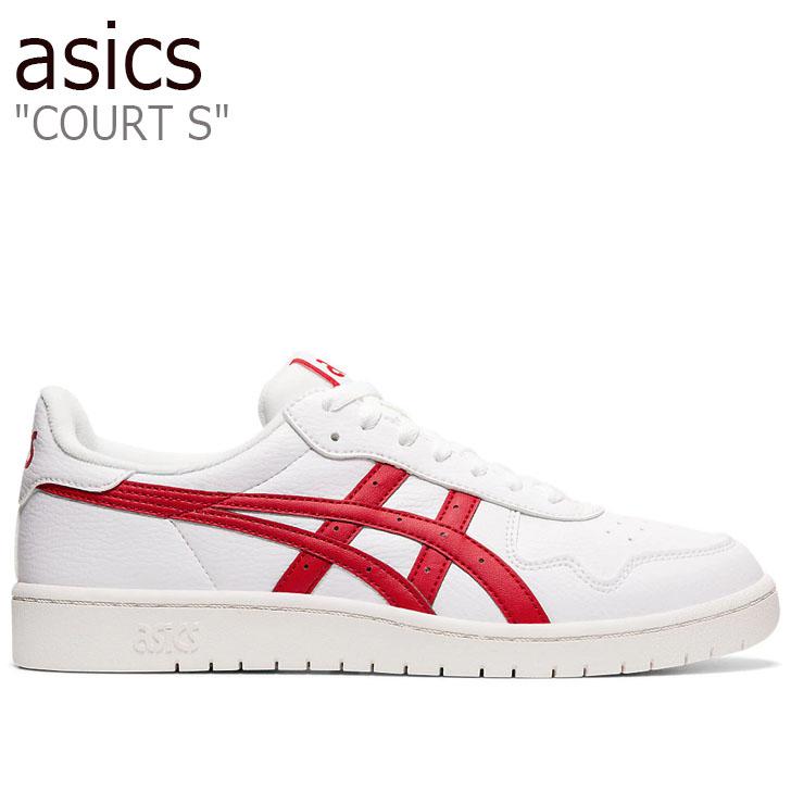 アシックス スニーカー asics メンズ COURT S コート エス WHITE ホワイト RED レッド 1191A212-100 シューズ