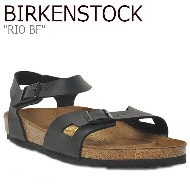 ビルケンシュトック サンダル BIRKENSTOCK メンズ RIO BF リオ BLACK ブラック 031791 シューズ 【中古】未使用品