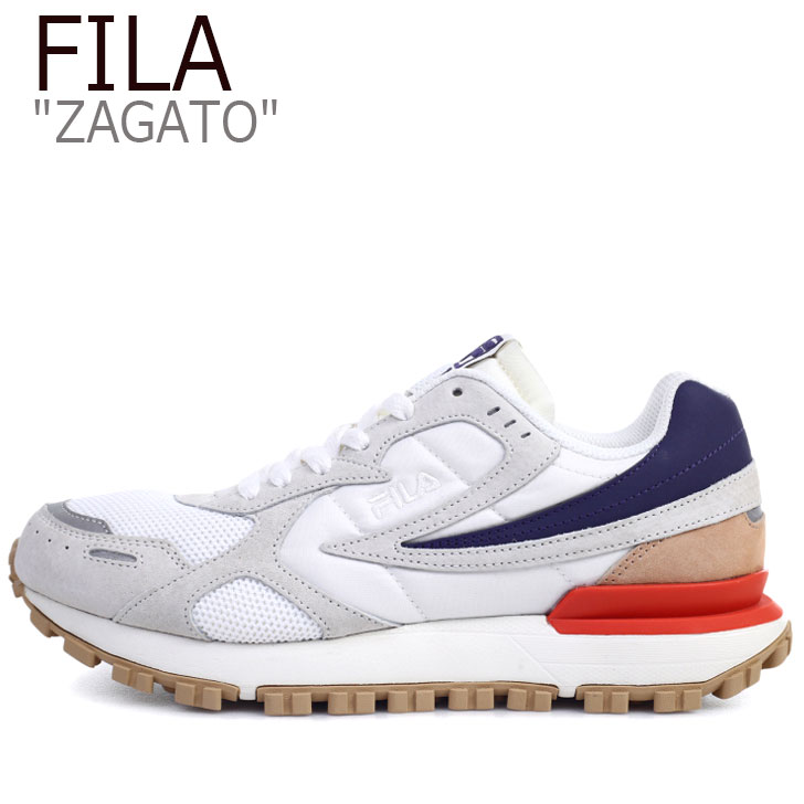 フィラ スニーカー FILA メンズ レディース ZAGATO ザガト WHITE ホワイト BLUE ブルー RED レッド 1GM00849-077 シューズ