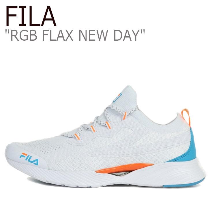 フィラ スニーカー FILA メンズ レディース RGB FLAX NEW DAY RGB フラックス ニューデイ WHITE ホワイト ORANGE オレンジ 1RM01252-423 シューズ