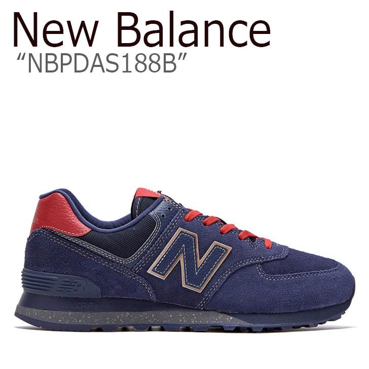 ニューバランス 574 スニーカー New Balance メンズ new balance 574 INSPIRE THE DREAM インスパイア ザ ドリーム BLACK ブラック NAVY ネイビー RED レッド NBPDAS188B シューズ 【中古】未使用品