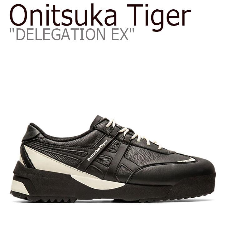 オニツカタイガー スニーカー Onitsuka Tiger メンズ レディース DELEGATION EX デレゲーション BLACK ブラック 1183A559-001 シューズ