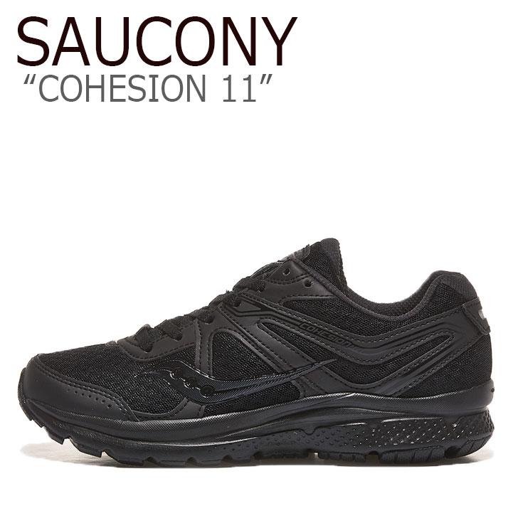サッカニー スニーカー SAUCONY メンズ レディース COHESION 11 コヒージョン BLACK ブラック S20421-23 シューズ
