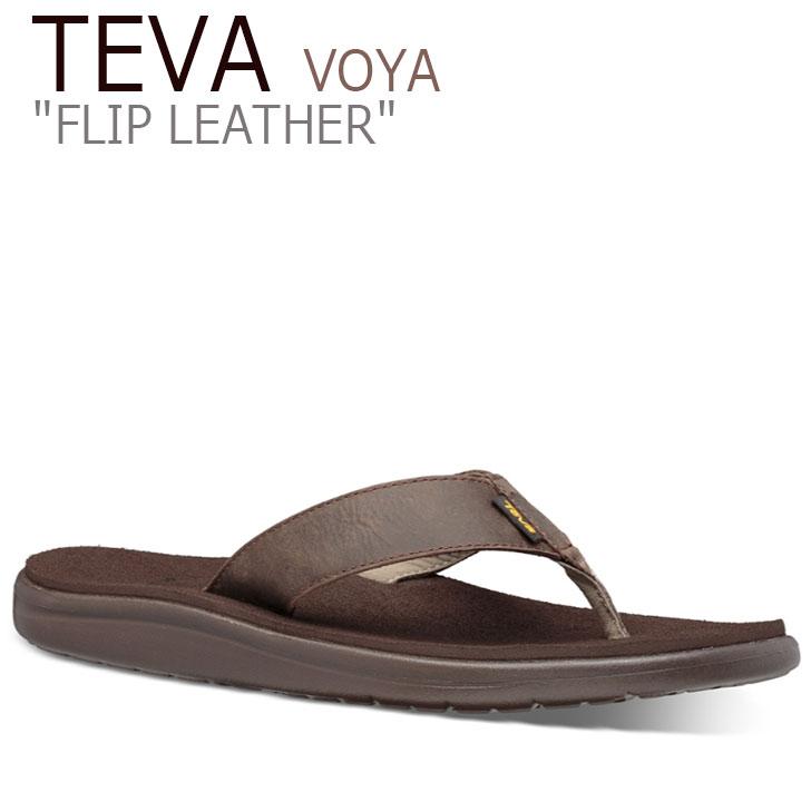 テバ ボヤ サンダル TEVA メンズ VOYA FLIP LEATHER ボヤ フリップ レザー CHOCOLATE BROWN チョコレートブラウン 1106784-COBR シューズ