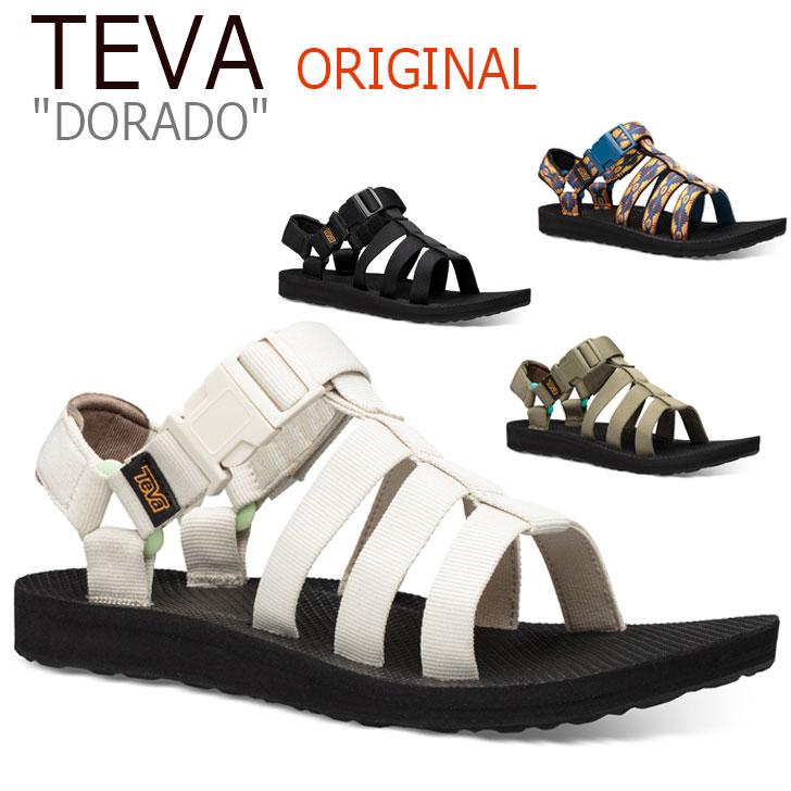 テバ サンダル TEVA レディース ORIGINAL DORADO オリジナル ドラド WHITE ホワイト BLACK ブラック OLIVE オリーブ CANYON キャニオン 1106854-BHBC 1106854-BLK 1106854-BOWT 1106854-CTCN シューズ
