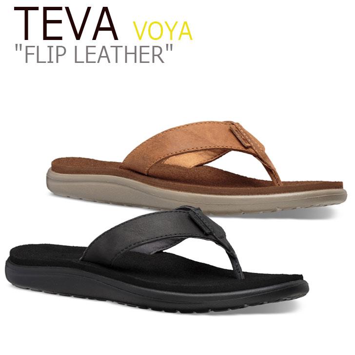 テバ ボヤ サンダル TEVA レディース VOYA FLIP LEATHER ボヤ フリップ レザー BLACK ブラック CHIPMUNK チップムンク 1106867-BLK 1106867-CPM シューズ