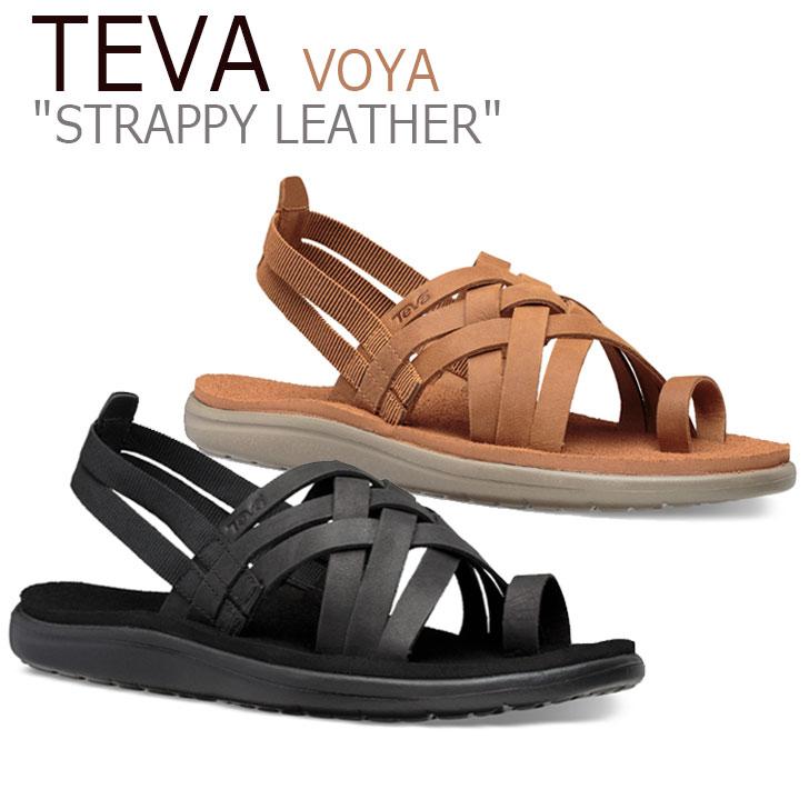 テバ ボヤ サンダル TEVA レディース VOYA STRAPPY LEATHER ボヤ ストラッピー レザー BLACK ブラック CHIPMUNK チップムンク 1106868-BLK 1106868-CPM シューズ