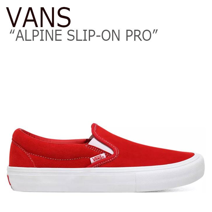バンズ スリッポン スニーカー VANS メンズ レディース ALPINE SLIP-ON PRO アルパイン スリッポン プロ RED レッド VN0A347VAJL1 シューズ