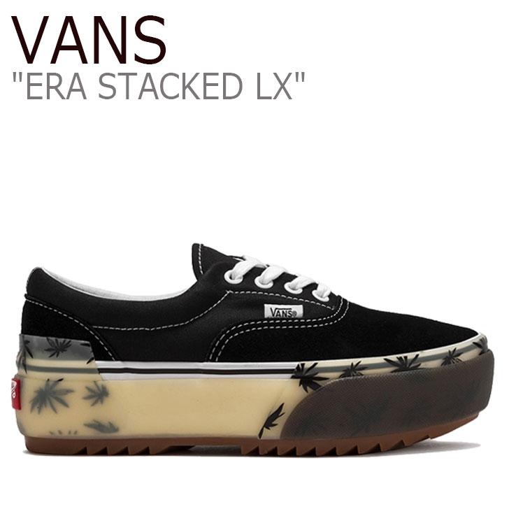 バンズ エラ スニーカー VANS レディース ERA STACKED LX エラ スタック LX PALM BLACK パームブラック VN0A4U4CXA5 シューズ