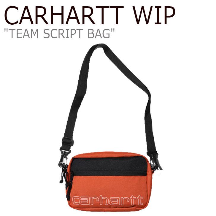 カーハート ワークインプログレス サコッシュ CARHARTT WIP メンズ レディース TEAM SCRIPT BAG チーム スクリプト バッグ ORANGE オレンジ WHITE ホワイト CA19FWBABS05916001 バッグ