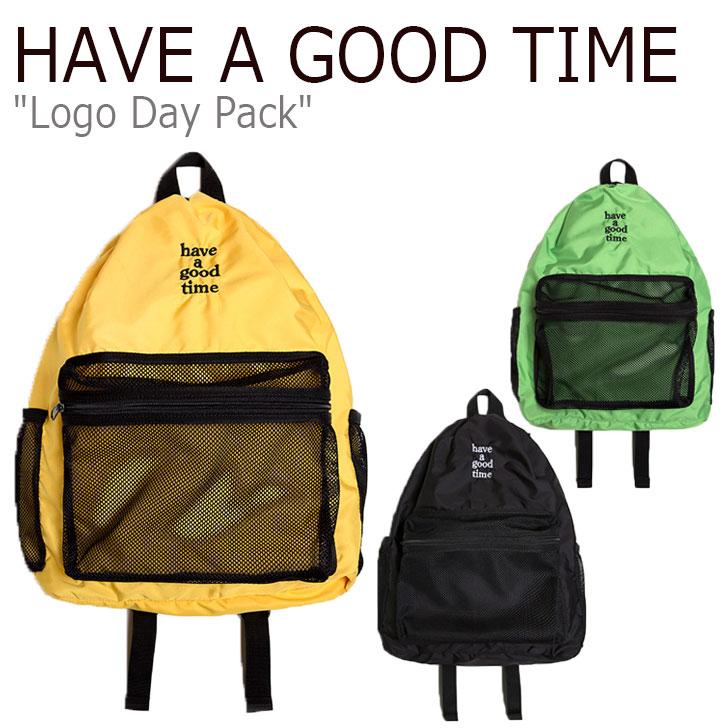 ハブアグッドタイム リュック HAVE A GOOD TIME メンズ レディース LOGO DAY PACK ロゴ デイ パック GREEN グリーン YELLOW イエロー BLACK ブラック HGT20SXBP0021 バッグ