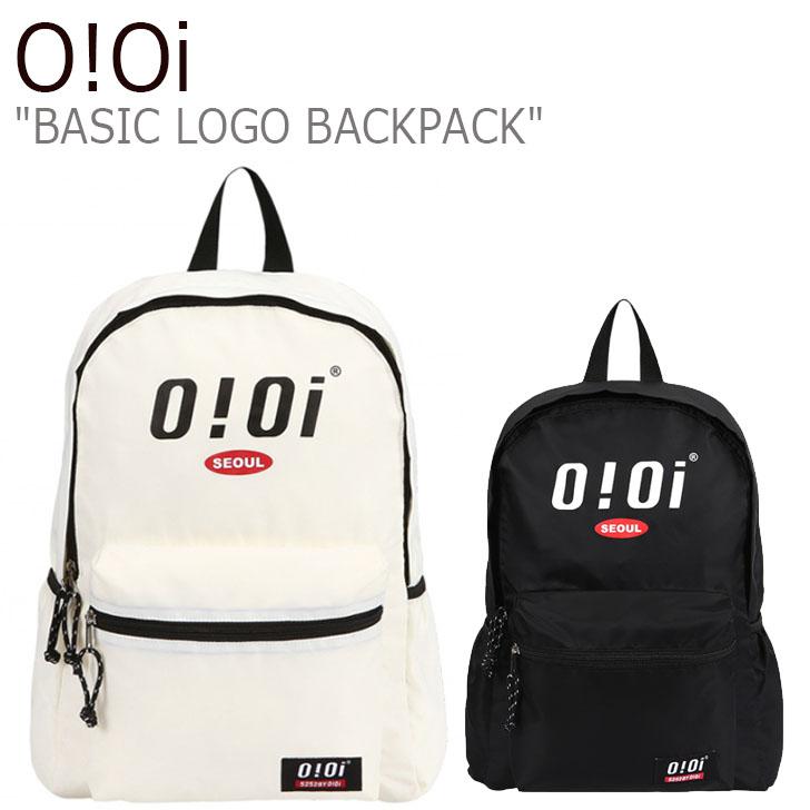 オアイオアイ リュックサック O!Oi メンズ レディース BASIC LOGO BACKPACK ベーシック ロゴ バックパック BLACK ブラック IVORY アイボリー 20SM_71/2 バッグ